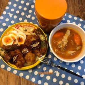 サクサクひれカツ&スープ弁当♪(お詫び&ありがとう♡)