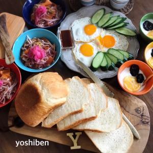 休日の朝ごパン〜♪