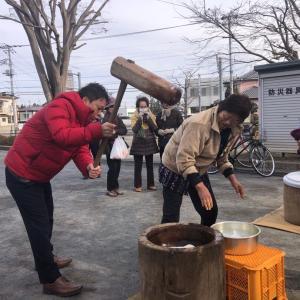 鎌取町朝一で餅つき!緑区民総がかり行動でスピーチ