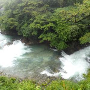 四万の甌穴、四万川ダム