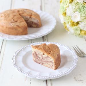 卵白が余った時にも作れる 米粉のあんこマーブルケーキ