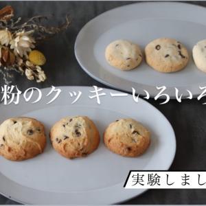 米粉のクッキー いろいろ試作