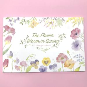 パールシルク印刷で上品な印象「お花の便箋/封筒」