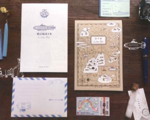 九ポ堂「飛行船ホテル レターパッド」