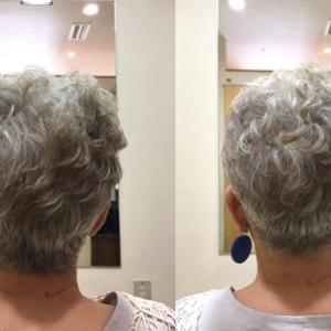 【70代のグレイヘア】刈り上げスタイル