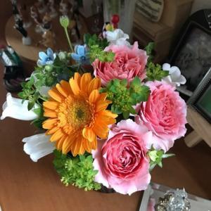 綺麗なお花をいただき、幸せな気持ちに♡