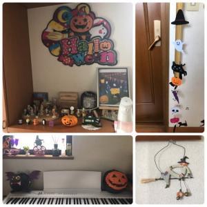 10月の教室はハロウィン仕様です