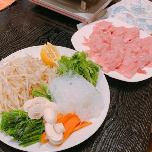 今夜の夕飯は、温しゃぶしゃぶ(o^―^o)ニコ