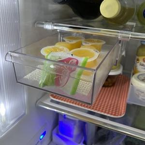 ダイソーのストレージケースで冷蔵庫の整理