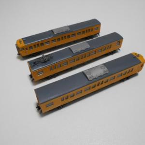 KATO 115系濃黄色加工品 D編成のTNカプラー化と動力、ライトユニットの整備