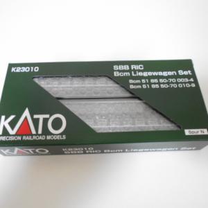 Lemke/KATO RIC 寝台車 SBB 新ロゴ 2両セット 入線