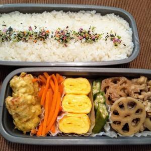 主人のお弁当 〜豚肉とれんこんの炒め煮〜