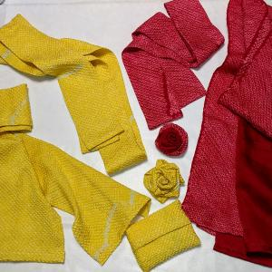 着物から小物作り