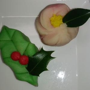 柊と山茶花