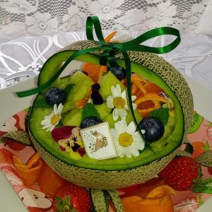 誕生日にメロン 海鮮丼 柑橘ソムリエ試験6月5日に 今日のマーマレード