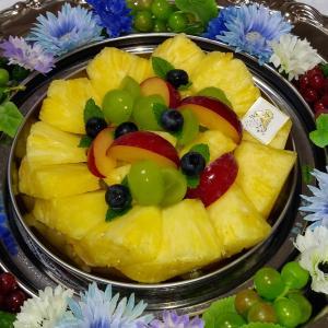 フルーツとお花のコラボ