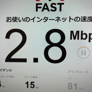 ドコモnetでIPOE接続なのに夜になると速度が遅い。遅すぎる。