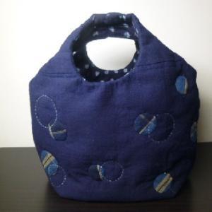 水玉模様のバッグ  2つ目です。