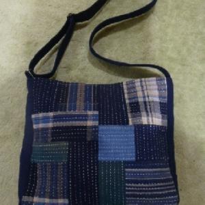 藍染めのショルダーバッグ  その2