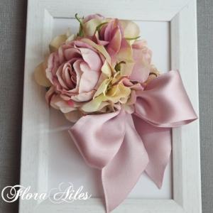 ◆2020年も『くすみピンク』のコサージュがお嫁入りしています♪