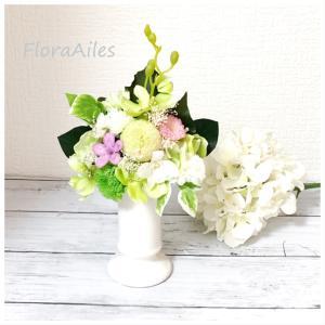 ◆お彼岸入りに間に合わせた仏花のレッスンです