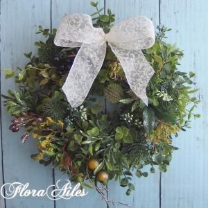 ◆グリーンノエルリースは季節を問わず飾って頂けます♪
