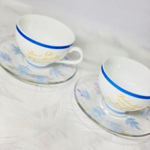 ポーセラーツ作品♡カップ&ソーサー