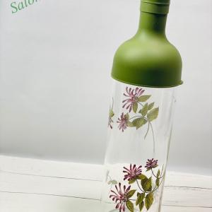 ポーセラーツ作品♡HARIOのボトル
