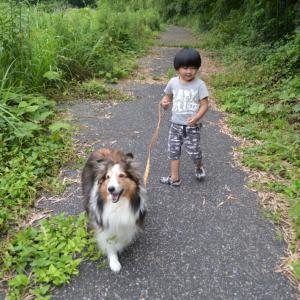 マリンと弟くんのお散歩