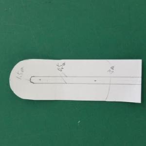 袖口の空き、始末の仕方(洋裁、生徒作品)