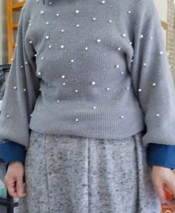 8枚ハギスカートと簡単ベレー帽(カットソー生徒作品)