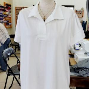 真っ白なシャツブラウス(カットソー生徒作品)