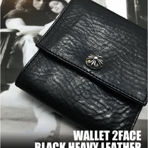 入荷!クロムハーツ 財布/2フェイス ブラック ヘビー レザー!オンラインストアへ掲載完了です!