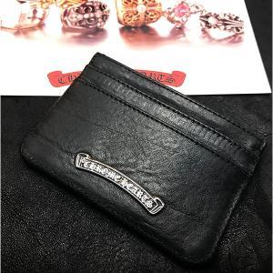 クロムハーツ 財布/カードケース ダブルサイド ウィズ スクロールラベル 在庫あり!