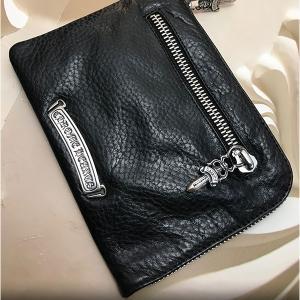クロムハーツ 財布 / ウォレット 2サイドジップ 3クロス レザーパッチ 在庫ありのウォレット