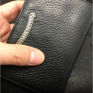 クロムハーツ 財布/ジョーイ ウォレット ブラック ヘビー レザー 店頭に在庫ありです!