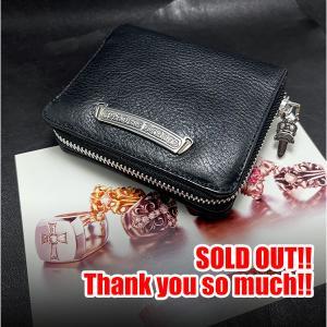 SOLD OUT!クロムハーツ/CHROME HEARTS 財布 スクウェア ジップ ブラック!