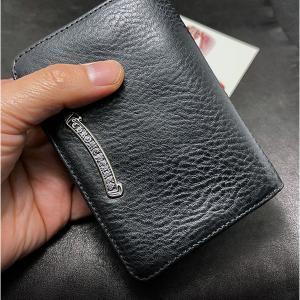 クロムハーツ 財布 / ジョーイ ウォレット ブラック ヘビー レザー 店頭にてご覧頂けます!