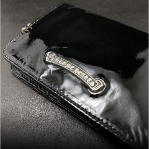 クロムハーツ財布 ジョーイ ブラック パテント レザー 海外限定レザー!リミテッドレザー!