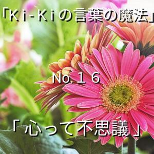 「Ki-Kiの言葉の魔法」No.16. 「 心って不思議 」