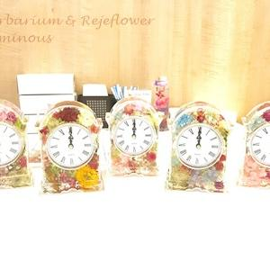 【開催報告】お花をたっぷり閉じ込めたハーバリウム時計