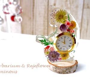 綺麗に作るには根気よく気長に…インアリウム時計