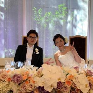 息子の結婚式でした♥️