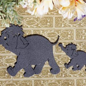 ゾウの親子のデコレーション