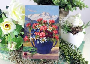 アルプスの花のポストカード