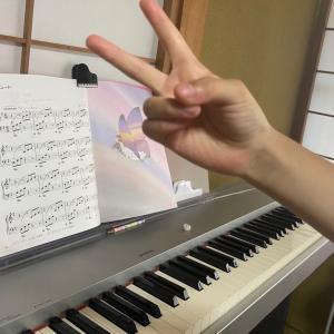 ピアノペダルをつけて弾いてみました♪