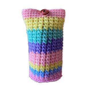 今日も編み編み楽しんでいます。メガネケース完成