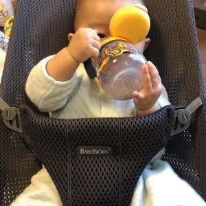 【離乳食】初挑戦サツマイモとコップ飲み練習♪