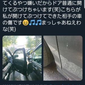 【悲報】女さん他人の車を傷付けてご満悦、女「私は悪くないw」