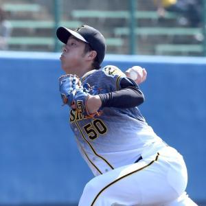 【阪神】青柳、3回2安打1失点 MAX144キロ 二回無死満塁から最少失点でしのぐ!